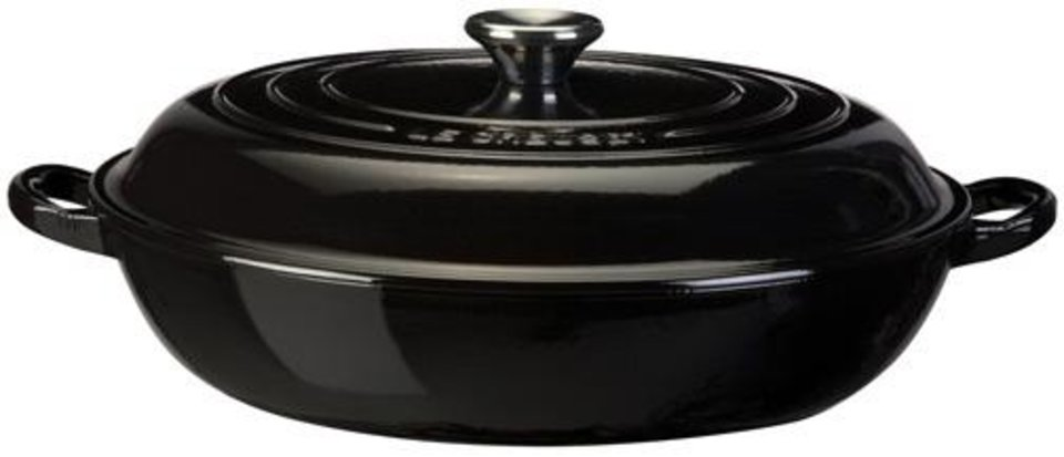 Photo - Support System: Black cookware won't detract from or compete with your current kitchen color scheme. It will subtly compliment any space with its cool, calm presence.  Image courtesy of Le Creuset