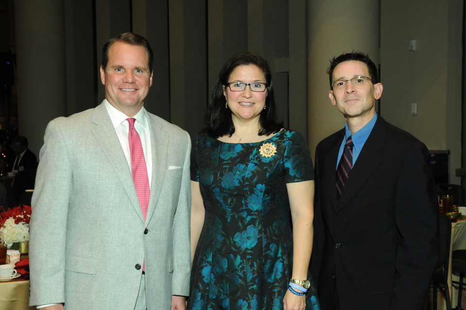 Photo - Lt. Gov. Todd Lamb, Renee and Chris Porter. PHOTO PROVIDED