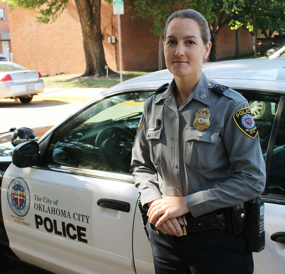 Photo - Sgt. Jennifer Morris of the Oklahoma City police department during an interview Wednesday May 16, 2012. Photo by Tiffany Gibson, The Oklahoman