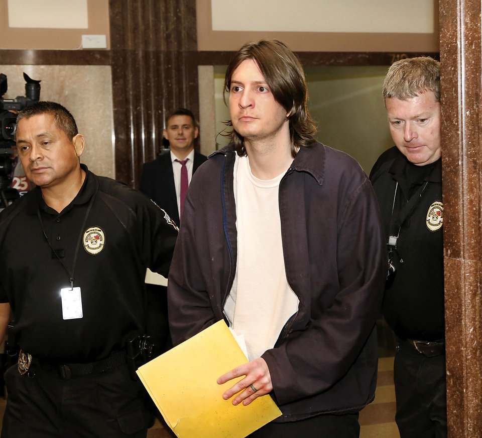 Photo -  Christian Costello, who is accused of stabbing to death his father, Mark Costello, the state's labor commissioner. [Photo by Jim Beckel, The Oklahoman Archives]