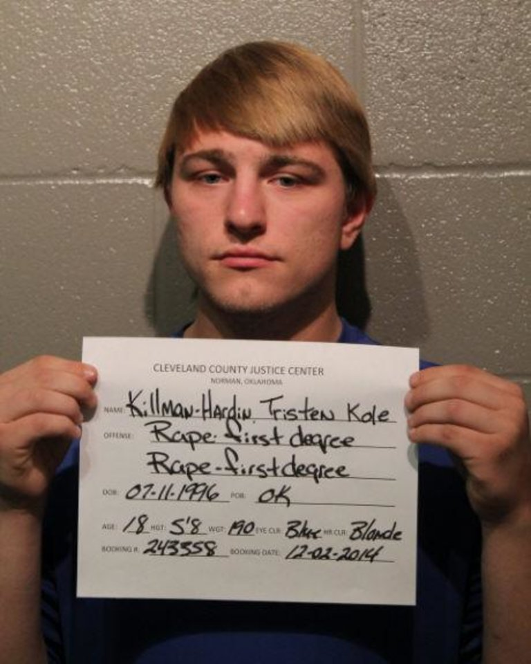 Photo - Tristen Kole Killman-Hardin, 18. Photo courtesy Cleveland County Detention Center.