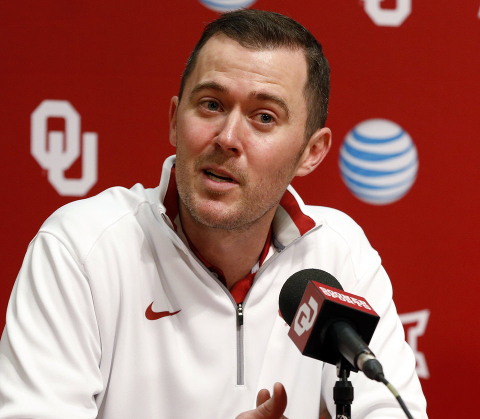 Photo -                    Lincoln Riley was hires as OU's new offensive coordinator on Jan. 17.                     Photo by Steve Sisney, The Oklahoman