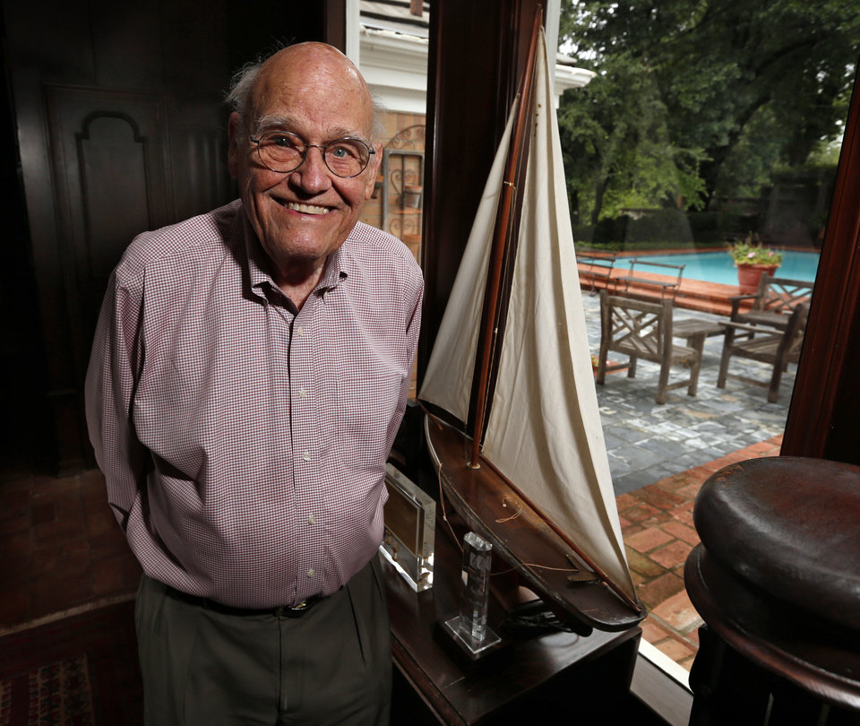Photo -  Harold Powell, founder of Harold's Stores, at his home on Thursdayin Norman. Photo by Steve Sisney, The Oklahoman   STEVE SISNEY -  THE OKLAHOMAN