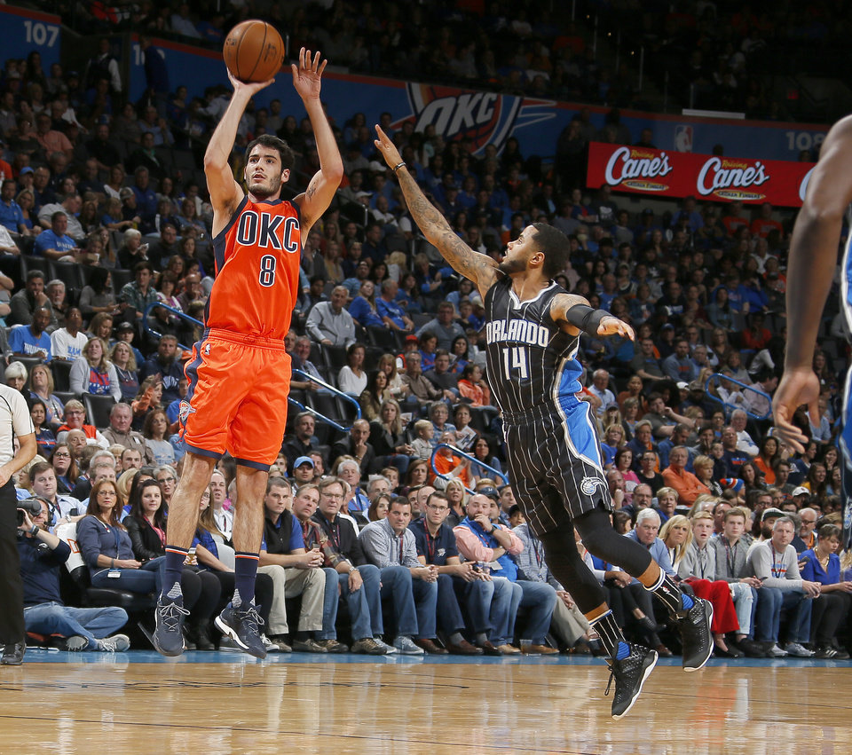 Photo - Is Alex Abrines' performance against New Orleans a sign of what's to come? Photo by Sarah Phipps, The Oklahoman