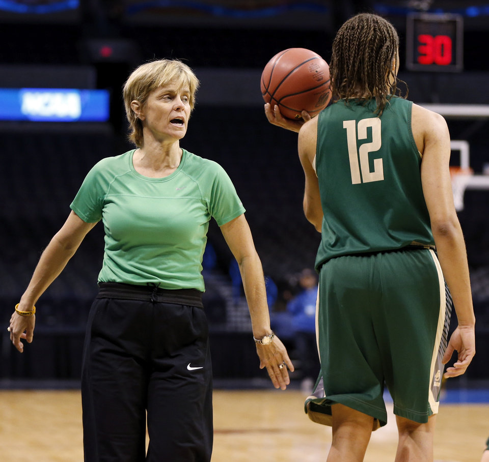 Photo -                    Baylor coach Kim Mulkey has won two NCAA titles during her 15 years at the school.                                        Photo by Nate Billings, The Oklahoman