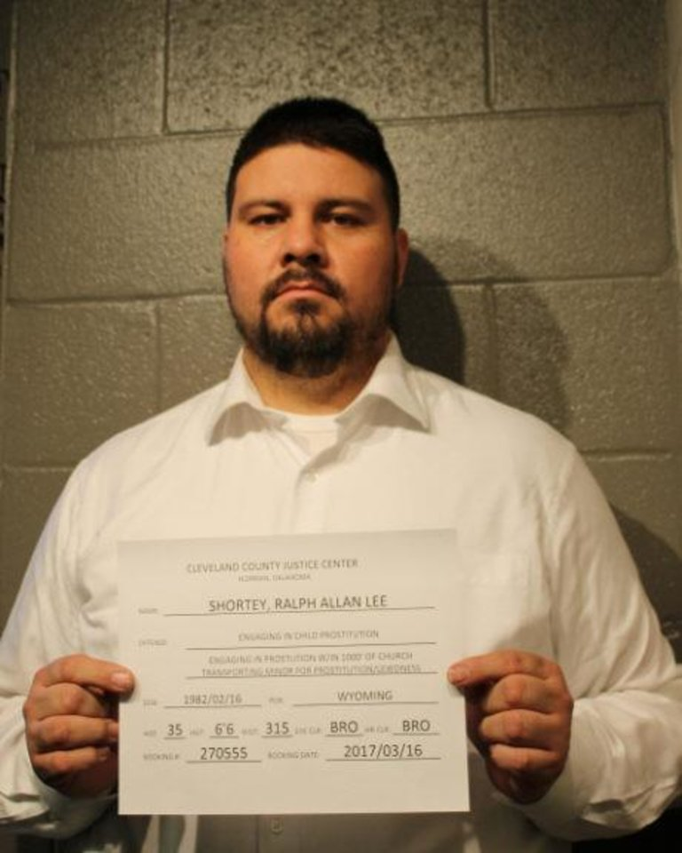 Photo -  Sen. Ralph Shortey is shown in his mug shot after being booked at the Cleveland County Detention Center. [Photo Provided]