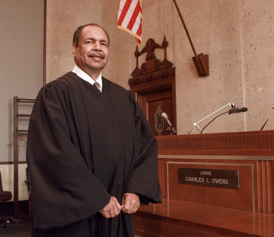 Photo -  Judge Charles L. Owens. [Photo by Paul Hellstern, The Oklahoman Archives]