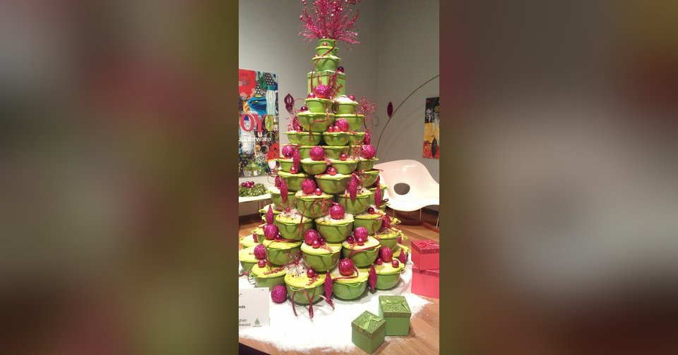 This Tupperware tree was featured this year at the Orlando Museum of Art's Festival of Trees, Photo by Marni Jameson