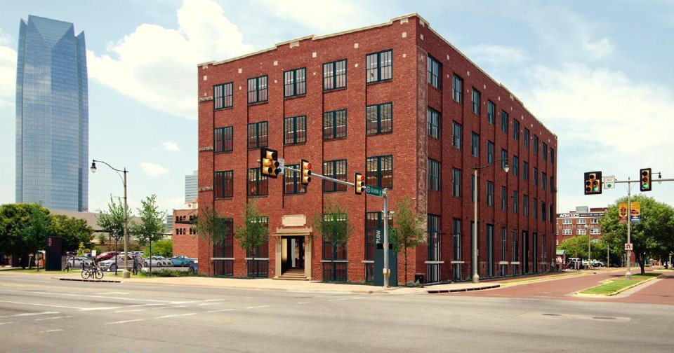 The Rock Island Plow Building, 29 E Reno, has been empty and boarded up for more than 30 years, but will be renovated this next year into offices. Drawings Allford Hall Monaghan Morris