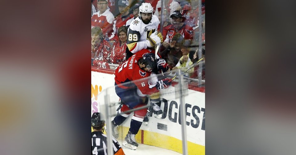 The Latest  Capitals lead Vegas 3-1 late in Cup Game 3 6a25fb5c4afd