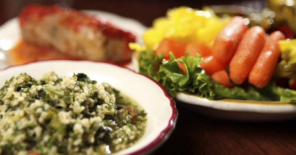 RESTAURANT / FOOD: Tabouli, cabbage roll and relish at Jamil\'s Steakhouse in Oklahoma City, Monday, June 20, 2011. Photo by Garett Fisbeck, The Oklahoman ORG XMIT: KOD