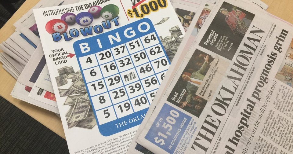 Playing to win the Bingo Blowout game in The Oklahoman