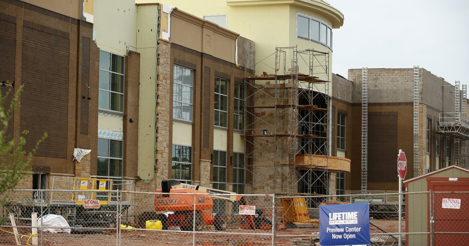 Life Time Fitness Center Progressing At Quail Springs Mall In Oklahoma City