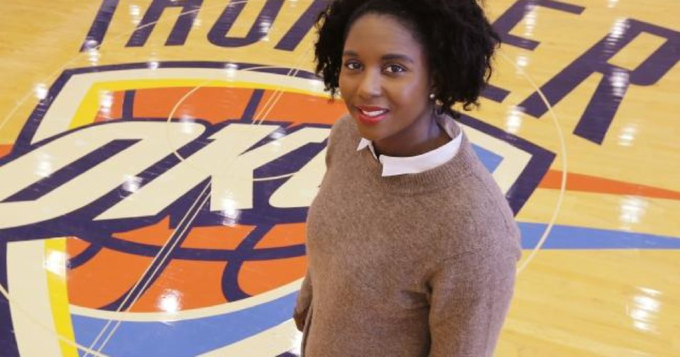 Women in Thunder basketball operations attend NBA...