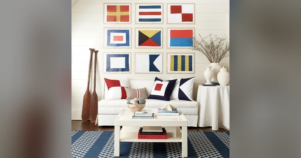 Right At Home Nautical Decor With Modern Panache