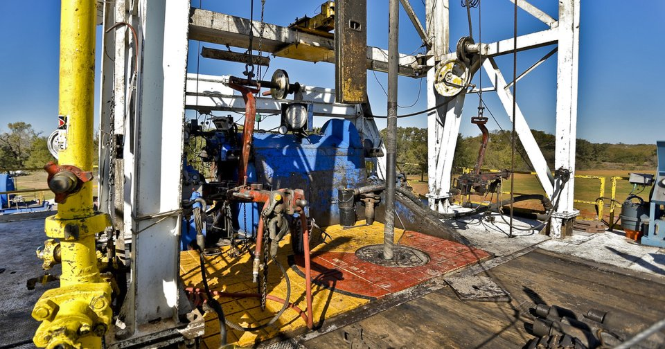 Continental Resources rig in Chickasha is shown.