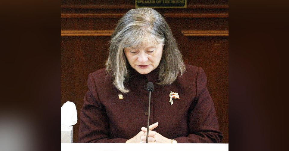 Right: Rep. Sally Kern delivers an apology Monday on the House floor, in Oklahoma City. AP Photos