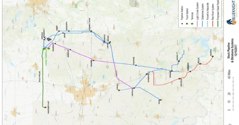 STACK pipeline project planned on river's edge cottages watson ok, map of watson st, map of roland oklahoma,