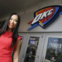 Thunder Girl Kei is in her second stint with the team after moving from Japan. [Nate Billings/The Oklahoman]