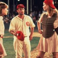 "From left, Lori Petty, Tom Hanks and Geena Davis star in a ""A League of Their Own."" [Columbia Pictures photo]"