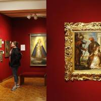Visitors tour the Mabee-Gerrer Museum of Art Friday, Aug. 9, 2019, in Shawnee. The museum is celebrating its 100th anniversary in 2019. [The...
