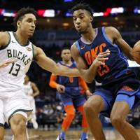 "Terrance Ferguson (23) showed in his second season that he ""has a bright future"" with the Thunder, guard Andre Roberson said. [Nate Billings/The..."
