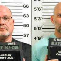 Richard Tate, left, and his son, Ryan, were arrested in May 2017.