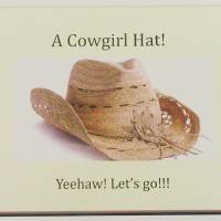 Cowgirl hat party favor. PHOTO PROVIDED