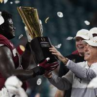 Alabama hoisting the national championship trophy, as offensive lineman Alex Leatherwood and head coach Nick Saban did last week, has become an...