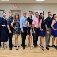 Participating in Edmond's third annual Dancing with the Stars event are, from left, professional dancer David Wood paired with Selina McGee,...