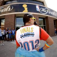 Photo - Nauzi Jagosh stands outside the arena before Game 2 of the NBA Finals between the Oklahoma City Thunder and the Miami Heat at Chesapeake Energy Arena in Oklahoma City, Thursday, June 14, 2012. Photo by Bryan Terry, The Oklahoman