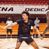 Oklahoma State and star freshman Cade Cunningham, pictured in an Oct. 14 practice, will have three Big Monday games on ESPN this season. [Courtney...