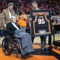 The day before Oklahoma State's 1995 Final Four team was honored, Eddie Sutton was named a finalist for the Naismith Basketball Hall of Fame....
