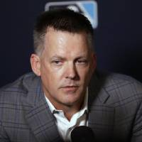 Former Houston Astros manager and Midwest City High star A.J. Hinch speaks to media during the Major League Baseball winter meetings in December....