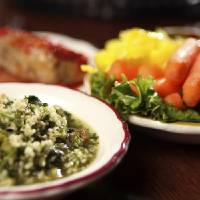 Photo -  RESTAURANT / FOOD: Tabouli, cabbage roll and relish at Jamil's Steakhouse in Oklahoma City, Monday, June 20, 2011. Photo by Garett Fisbeck, The Oklahoman ORG XMIT: KOD