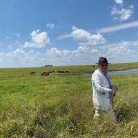 """Martin Scorsese is seen location scouting in Oklahoma for his upcoming film, """"Killers of the Flower Moon."""" [Photo provided by producer Emma..."""