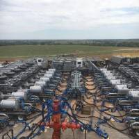 A horizontal well is fractured. Rules adopted by the Oklahoma Water Resources Board this week aim to allow oil and gas producers to use marginal...