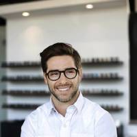 Gary Black believes unique eyeglass frames and sunglasses are ways for wearers to express their unique personalities. [JIM BECKEL/THE OKLAHOMAN]