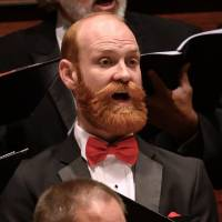 """TOP LEFT TO RIGHT: Chad Taylor sings bass with Canterbury Voices. World-renowned Oklahoma City-based pianist Sergio Monteiro will perform """"Brahms..."""
