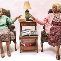 """Terry Burrell, right, portrays Bessie and Julia Lema as Sadie in Lyric Theatre's production of """"Having Our Say."""" [K. Talley Photography]"""