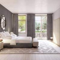 A room with light sanded floors: Designer Ryan Korban says light floors lend themselves to a more serene sleeping environment. He used them in...