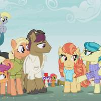 "<strong>This photo provided by Hasbro Studios LLC/Discovery Family shows a scene from the Discovery Family Channel cartoon series ""My Little Pony: Friendship is Magic"" coinciding with Pride Month. The show has introduced a same-sex couple for the first time. [AP photo]</strong>"