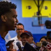 Shai Gilgeous-Alexander enters his first season with the Thunder after a promising rookie season with the Clippers.  [Chris Landsberger/The...