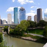 Houston Skyline - Buffalo Bayou Bridge