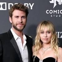 "LOS ANGELES, CA - APRIL 22:  Liam Hemsworth (L) and Miley Cyrus attend the world premiere of Walt Disney Studios Motion Pictures ""Avengers: Endgame"" at the Los Angeles Convention Center on April 22, 2019 in Los Angeles, California.  (Photo by Steve Granitz/WireImage)"