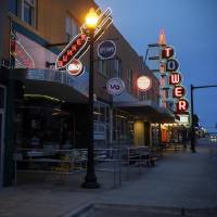 The Bunker Club, Tower Theatre and other businesses are closed in the Uptown district along NW 23 between Walker Avenue and Hudson Avenue on what...