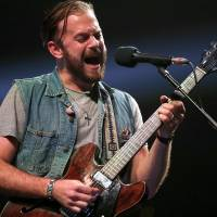 "Caleb Followill of Kings of Leon performs during the ""Rock for Oklahoma"" concert at the Chesapeake Energy Arena in Oklahoma City, Tuesday, July 23,..."
