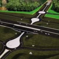 A screengrab from an Oklahoma Department of Transportation presentation shows proposed roundabouts on McLoud Road at the I-40 interchange....