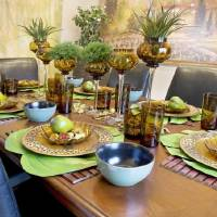 Place mats can offer a festive, more casual vibe to your table. [Metro Creative Connection]