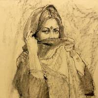"""""""Portrait of a Young Woman in a Sari"""" by William F. Reese is featured in the """"Passport"""" exhibit at the National Cowboy and Western Heritage Museum...."""
